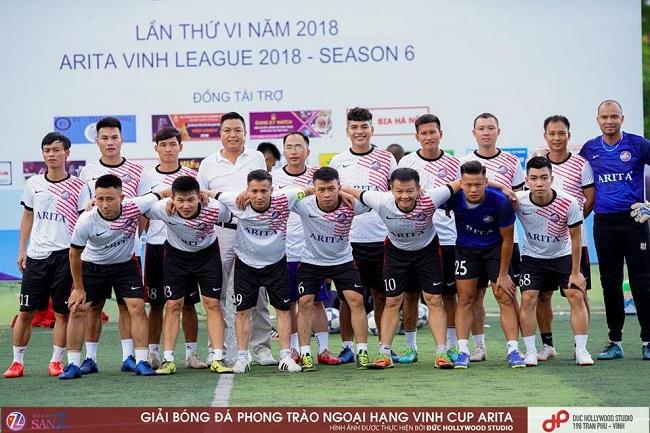 Tranh cúp Arita cùng giải bóng đá phong trào ngoại hạng Vinh năm 2018