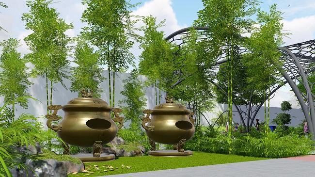 Mảng xanh củachung cư cao cấp Arita Home