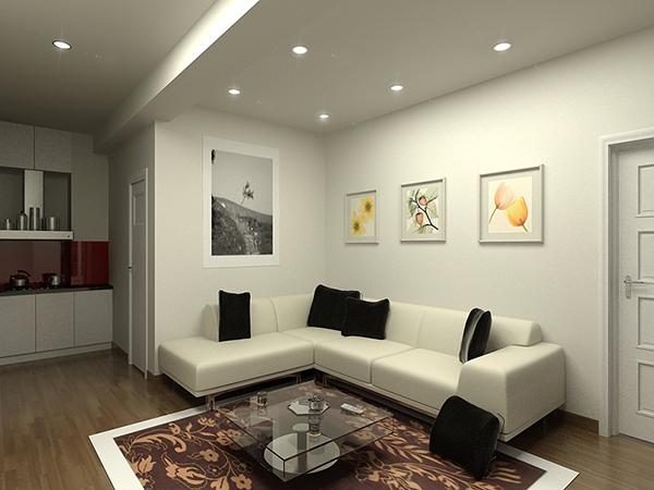 chọn màu sơn cho phòng khách chung cư